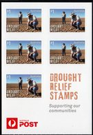 AUSTRALIA, 2018 DROUGHT RELIEF SHEETLET OF 5 S/ADH STAMPS MNH - 2010-... Elizabeth II