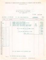 2408    1956  FACTURE MATEGOT A PARIS - MAISON AU GRLLON A PARTHENAY - 1950 - ...