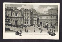 CPA ITALIE - NAPOLI - NAPLES - Piazza S. Ferdinando E Galleria Umberto 1 - TB PLAN CENTRE VILLE ANIMATION TRAMWAY - Napoli
