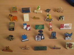 A Prix Cassé !!! LOT18-225 De 25 Pin's En Très Bon état , Tous Différents , Avec Leurs Attaches - Badges