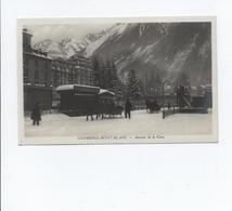 CPA - 74 - Carte Photo Chamonix Mont Blanc - Avenue De La Gare A VOIR - Chamonix-Mont-Blanc