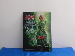 """Plaque Métal """"GET 27 PERRIER"""" - Plaques Publicitaires"""