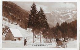St Saint-Pierre De Chartreuse - Le Vallon De Perquelin, Skieur Et Traineau - Carte LL Sépia N° 2078 - Chartreuse