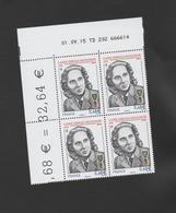 FRANCE / 2015 / Y&T N° 4985 ** : Marie Diebolt-Mutschler X 4 - Coin Daté 2015 09 01 - TD 202 - Ecken (Datum)