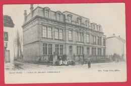 Saint-Mard - Ecole Et Maison Communale - 1906 ( Voir Verso ) - Virton