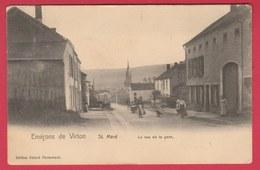 Saint-Mard - La Rue De La Gare ... Carte Animée -  1906 ( Voir Verso ) - Virton