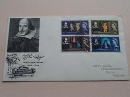 400th Birthday 1564 - 1964 Shakespeare Festival : 23 April 1964 > Harry Allen / Rickmansworth ( See Photo ) ! - FDC