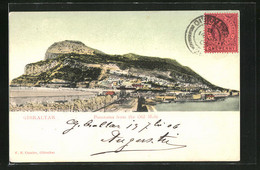 Postal Gibraltar, Panorama From The Old Mole - Gibraltar