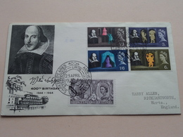 400th Birthday Willem SHAKESPEARE 1564/1964 : 23 April 1964 > Harry Allen Rickmansworth ( See Photo ) ! - FDC