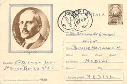 D1429 Romania Postal Stationery Post Card Romain Rolland Was A French Dramatist, Novelist, Essayist, Art Historian - Ecrivains