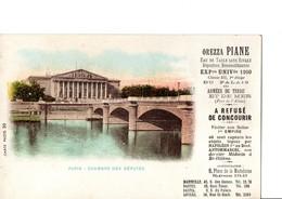 OREZZA PIANE. Eau De Table Sans Rivale... CARTE-PHOTO 30.  PARIS. - CHAMBRE DES DEPUTES. Etat Neuf. Voir Scan - Advertising