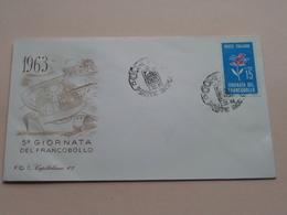 1963 - 5° GIORNATA Del Francobollo : 1-12-63 ( See/voir Photo ) FDC Capitolium 67 ( N° 1243 ) ! - 1946-.. République