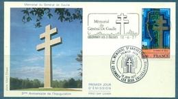 DE GAULLE Flamme & Cachet De COLOMBEY Du 18 Juin 1977 S/tp Mémorial Tb - De Gaulle (General)