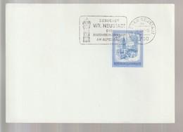 P 365) Österreich 1981 SSt Wiener Neustadt: Besucht Die Babenberger Stadt, Wasserturm - Ferien & Tourismus