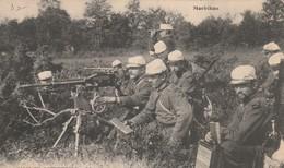 Rare Cpa Une Mitrailleuse En Action - 1914-18