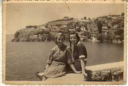 """Photo ,,LUNA"""" - Macedonia - Ohrid 1947 - The Girls - Anonieme Personen"""
