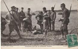 Rare Cpa Allemands Tués Par Un Aéroplane Français - 1914-18