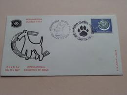 Int. EXHIBITION Of DOGS : Stamp OPATIJA 11 V 1968 ( See/voir Photo ) FD Rijeke Broj 18 ! - Croatie