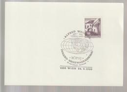 P 357) Österreich 1980 SSt Wien: Alfred WEGENER, Leben Und Werk (Erdkugel) - Geographie