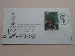II JUGOSLAVENSKI KONGRES ZA'SUDSKU MEDICINU : Stamp OPATIJA 25.IV.1968 ( See/voir Photo ) FD Rijeke Broj 23 ! - Croatie