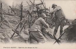 Rare Cpa Front De La Marne Réparation Des Chevaux De Frise - 1914-18