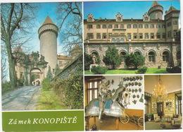 Konopiste - Gothic Castle: Harnessed Knight & Harnessed Horse - Tsjechië
