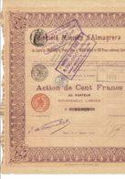 75-MINIERE D'ALMAGRERA. 1903. Capital 2 MF - Other