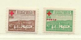 YOUGOSLAVIE  ( EU-175 )  1947  N° YVERT ET TELLIER  N° 5/6    N** - Wohlfahrtsmarken