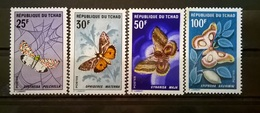 FRANCOBOLLI STAMPS CIAD TCHAD 1968 MNH** SERIE COMPLETA BUTTERFLIES FARFALLE E FALENE - Ciad (1960-...)