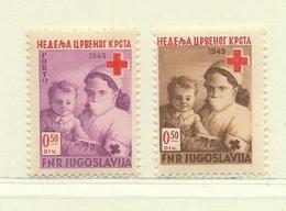 YOUGOSLAVIE  ( EU-177 )  1949  N° YVERT ET TELLIER  N° 9/10    N** - Wohlfahrtsmarken