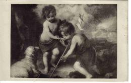 Museo Del Prado N°964 Murillo Ninos De La Concha Heliotipia Madrid Coupure En Bas Voir Scan - Peintures & Tableaux