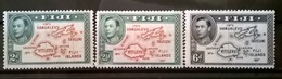 FRANCOBOLLI STAMPS FIJI 1938 MH SERIE RE GIORGIO VI MAPPA MAPS LOCAL MOTIVES - Fiji (1970-...)