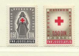 YOUGOSLAVIE  ( EU-180 )  1952  N° YVERT ET TELLIER  N° 15/16    N** - Wohlfahrtsmarken