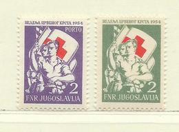 YOUGOSLAVIE  ( EU-181 )  1954  N° YVERT ET TELLIER  N° 19/20    N** - Wohlfahrtsmarken