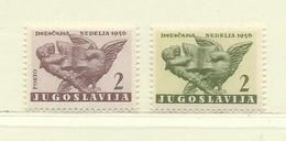 YOUGOSLAVIE  ( EU-184 )  1956  N° YVERT ET TELLIER  N° 25/26    N** - Wohlfahrtsmarken