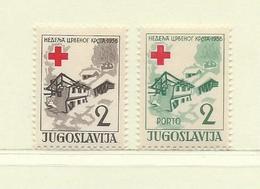 YOUGOSLAVIE  ( EU-185 )  1956  N° YVERT ET TELLIER  N° 27/28    N** - Wohlfahrtsmarken