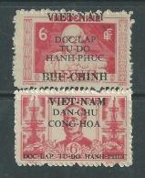 Viêt-Nam Du Nord N° 13 + 15 X  Timbres D'Indochine Surchargés : Les 2 Vals Trace Char., Dentelure Habituelle Sinon TB - Viêt-Nam