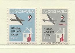 YOUGOSLAVIE  ( EU-186 )  1957  N° YVERT ET TELLIER  N° 29/30    N** - Wohlfahrtsmarken
