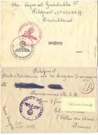 GUERRE 39-45 Envoi Caporal Prisonnier  Pour Poste Militaire De La Légion Française Permanence M.S.R. St Brieuc - Postmark Collection (Covers)