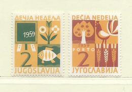 YOUGOSLAVIE  ( EU-188 )  1959  N° YVERT ET TELLIER  N° 39/40    N** - Wohlfahrtsmarken