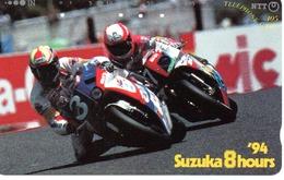 Télécarte Japon Moto Motor Sports - Sport  Phonecard (G 443) - Motos