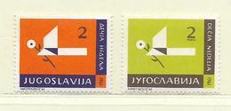 YOUGOSLAVIE  ( EU-192 )  1961  N° YVERT ET TELLIER  N° 47/48   N** - Wohlfahrtsmarken