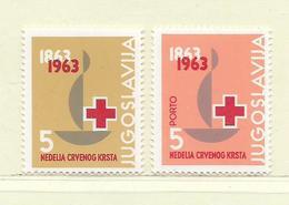 YOUGOSLAVIE  ( EU-194 )  1963  N° YVERT ET TELLIER  N° 51/52   N** - Wohlfahrtsmarken