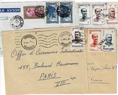 TP Entre N° 72 Et 315 Sur 1 Enveloppe Et 3 Devants Pour La France - Madagascar (1889-1960)