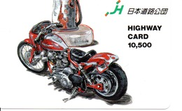 Carte Prépayée Japon Moto Motor Sports - Sport  Card (G 448) - Motos