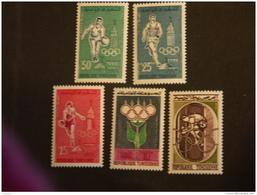 Tunesie 1960 Jeux Olympiques De Rome Yv 515-519 MNH ** - Tunisie (1956-...)