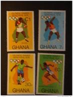 Ghana 1976 Jeux Olympiques De Montréal Dentelés 15 Yv 553a-556a MNH ** - Ghana (1957-...)