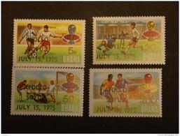 Ghana 1975 Apollo Soyuz Sur Football En R.F.A. Voetbal Dentelés 13,5  Yv 528a-531a MH * - Ghana (1957-...)