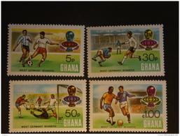Ghana 1974  Vainquers Surchargé Coupe Du Monde De Football En R.F.A. Voetbal Dentelés 13,50  Yv 520a-523a MNH ** - Ghana (1957-...)