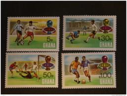 Ghana 1974 Coupe Du Monde De Football En R.F.A. Voetbal Dentelés 13,50  Yv 507-510 MNH ** - Ghana (1957-...)